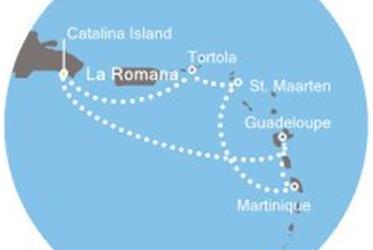 Costa Favolosa - Dominikán.rep., Panenské ostrovy, Antily (z La Romana)