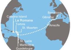 Costa Favolosa - Dominikán.rep., Panenské ostrovy, Antily, Kanárské ostrovy, Gibraltar, Španělsko (z La Romana)