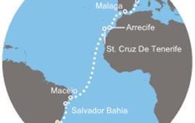 Costa Pacifica - Brazílie, Kanárské ostrovy, Španělsko (z Rio de Janeira)