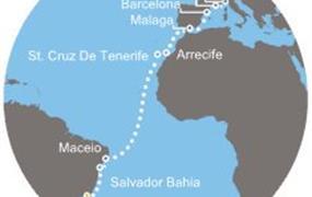 Costa Pacifica - Brazílie, Kanárské ostrovy, Španělsko, Francie, Itálie (z Rio de Janeira)