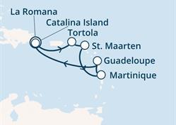 Costa Magica - Dominikán.rep., Panenské ostrovy, Antily (z La Romana)