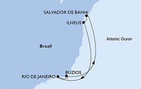 MSC Fantasia - Rio de Janeiro, Buzios, Salvador, Ilheus, Rio de Janeiro (z Rio de Janeira)