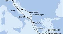 MSC Opera - Itálie, Černá Hora, Řecko (z Benátek)