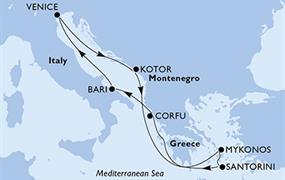 MSC Opera - Itálie, Černá Hora, Řecko (Bari)