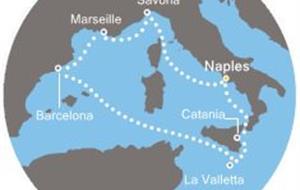 Costa Fascinosa - Itálie, Malta, Španělsko, Francie (Neapol)