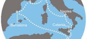 Costa Fascinosa - Itálie, Malta, Španělsko, Francie (ze Savony)