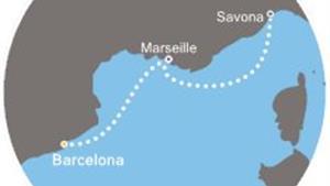 Costa Fascinosa - Španělsko, Francie, Itálie (z Barcelony)