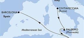 MSC Grandiosa - Itálie, Malta, Španělsko (z Civitavecchie)