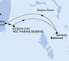 MSC Seaside - USA, Bahamy (z Miami)