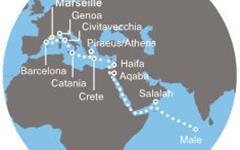 Costa Victoria - Francie, Španělsko, Itálie, Řecko, Jordánsko, Omán, Maledivy (Marseille)
