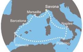 Costa Diadema - Itálie, Španělsko, Francie (ze Savony)