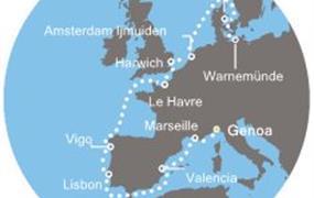 Costa Fascinosa - Itálie, Francie, Španělsko, Portugalsko, Anglie, Dánsko, Německo (z Janova)