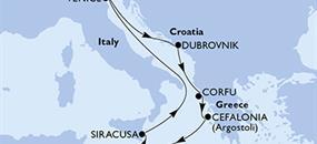 MSC Lirica - Malta, Itálie, Chorvatsko, Řecko (La Valetta)