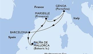 MSC Grandiosa - Francie, Itálie, Španělsko (Marseille)