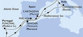 MSC Opera - Itálie, Španělsko, Portugalsko, Maroko (z Janova)