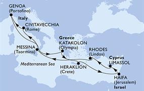 MSC Opera - Itálie, Řecko, Izrael, Kypr (z Janova)