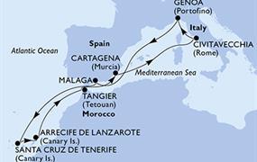 MSC Opera - Itálie, Španělsko, Maroko (z Civitavecchie)