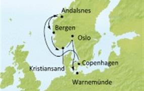 Costa Favolosa - Německo, Dánsko, Norsko (Warnemünde)