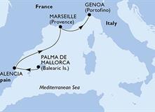 MSC Fantasia - Španělsko, Francie, Itálie (Palma de Mallorca)