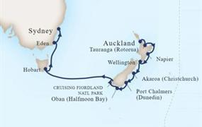 MS Maasdam - Plavba po Novém Zélandu a Austrálii (z Aucklandu)