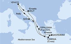 MSC Lirica - Itálie, Řecko, Chorvatsko (z Benátek)