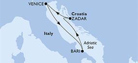 MSC Lirica - Itálie, Chorvatsko (z Benátek)