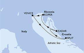 MSC Lirica - Itálie, Chorvatsko, Slovinsko (z Benátek)