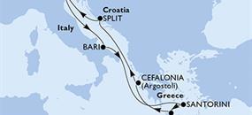 MSC Lirica - Itálie, Řecko, Chorvatsko (Bari)