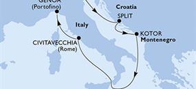 MSC Opera - Itálie, Chorvatsko, Černá Hora (z Benátek)