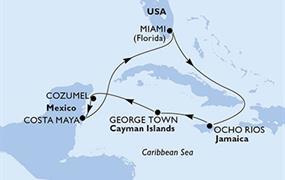 MSC Armonia - USA, Jamajka, Kajmanské ostrovy, Mexiko (z Miami)