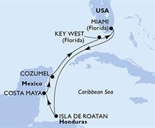 MSC Armonia - USA, Honduras, Mexiko (z Miami)