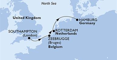 MSC Preziosa - Velká Británie, Belgie, Nizozemí, Německo (ze Southamptonu)