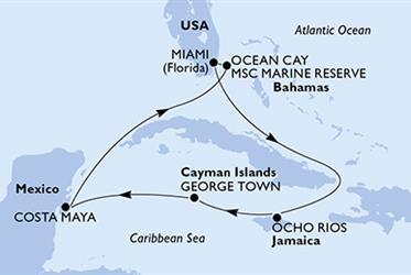 MSC Armonia - USA, Jamajka, Kajmanské ostrovy, Mexiko, Bahamy (z Miami)