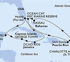 MSC Seaside - USA, Mexiko, Kajmanské ostrovy, Jamajka, Bahamy, Portoriko, Panenské ostrovy (U.S.)