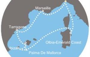 Costa Fortuna - Itálie, Francie, Španělsko, Baleáry (z Janova)
