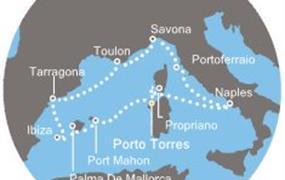 Costa neoRiviera - Itálie, Korsika (Francie), Španělsko, Baleáry