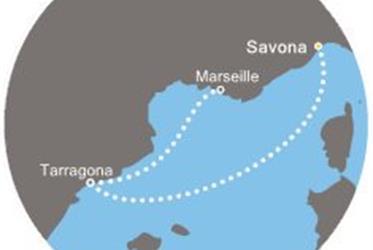 Costa Magica - Itálie, Španělsko, Francie (ze Savony)