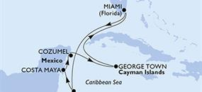 MSC Armonia - USA, Honduras, Mexiko, Kajmanské ostrovy (z Miami)