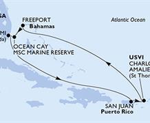 MSC Divina - USA, Portoriko, Panenské ostrovy (U.S.), Bahamy
