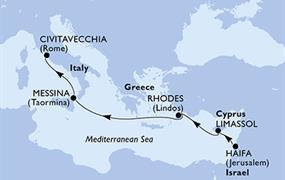 MSC Opera - Izrael, Kypr, Řecko, Itálie (Haifa)