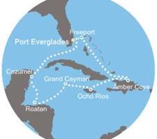 Costa Luminosa - Florida (USA), Bahamy, Jamajka, Kajmanské ostrovy, Honduras, Mexiko
