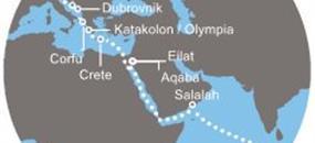 Costa Victoria - Maledivy, Omán, Izrael, Jordánsko, Řecko, Chorvatsko, Itálie (Malé)