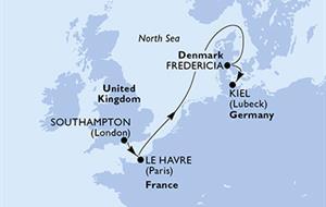 MSC Meraviglia - Velká Británie, Francie, Dánsko, Německo (ze Southamptonu)