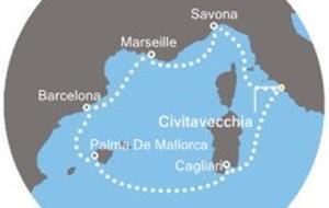 Costa Diadema - Itálie, Francie, Španělsko, Baleáry (z Civitavecchie)
