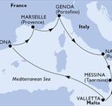 MSC Seashore - Itálie, Malta, Španělsko, Francie (Neapol)