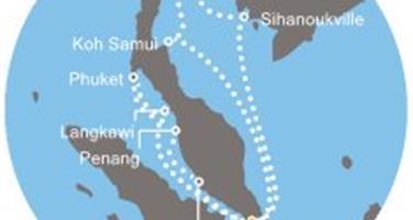 Costa Mediterranea - Singapur, Malajsie, Thajsko (ze Singapuru)