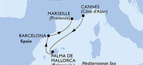 MSC Seaview - Francie, Španělsko (Cannes)