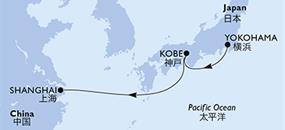 MSC Bellissima - Japonsko, Čína (Mainland)