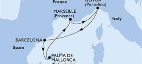 MSC Grandiosa - Itálie, Španělsko, Francie (z Janova)