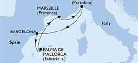MSC Grandiosa - Španělsko, Francie, Itálie (z Barcelony)